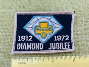 1912 -1972 Diamond Jubilee Vintage Girl Scout Collectible Embroidered Patch New