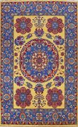 Gold Vegetable Dye Bakhtiari Area Rug Wool Hand-knotted Oriental Carpet 10and039x14and039