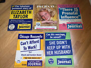 1950and039s 5-ladies Home Journal Magazine Cardboard Newsstand Posters Set 7