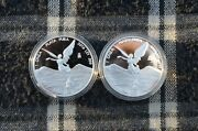 2x 2016 Mexico 1 Oz Silver Proof Libertad Coin - Only 13250 Slight Toning