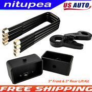 3 Front And 3 Rear Lift Kit For 1988-1998 Chevy Silverado / Gmc Sierra K1500 4wd