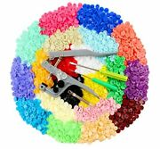 Ilauke 400 Sets Snap Buttons With Snap Pliers T5 Plastic Snaps No-sew Buttons