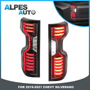 Pair Rear Smoked Tinted Led Tail Lights For 2019 2020 2021 Chevrolet Silverado