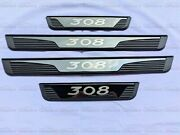 For Peugeot 308 Accessories Door Sill Cover Scuff Plate Guard Trim Protector 20