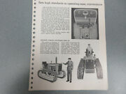 Rare John Deere 1010 Crawler Tractor Features And Options Brochure 10 Page