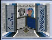 2004 Ultimate Ryne Sandberg And Ernie Banks Dual Jersey And Autograph D/25 Cubs