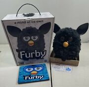 Rare Black Charcoal Furby A Mind Of Its Own Boxed 2012 Hasbro Toy Interactive
