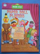 Vintage 1976 Sesame Street Muppets Paper Doll Players Book Whitman Unused