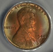 1944-d .01 Anacs Ms 65 Rb Lincoln Head Cent Lincoln One Cent