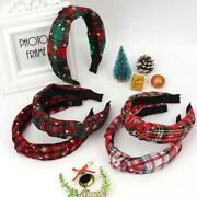 Christmas Colorful Plaid Hairbands Women Tie Winding Knot Hair Hoop For Girl Fab