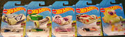New Hot Wheels 2021 Glow Racers Set 1-5 - Duck Nand039 Roll Warp Speeder And More