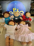 Vintage 1980s Cabbage Patch Kids W/ Papers, Clothes And Accessories. Lot Of 5...