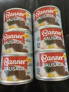 6 Cans Of Banner Sausage -10.5 Oz Cans Current Exp Date