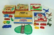 Plasticville Town With Boxes,airplanes And More Postwar Train O Gauge Vintage