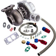 T70 .70 A/r T3 V-band Flange Turbo Charger Up To 500hp Oil Cooling+oil Return