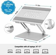 Adjustable Aluminum Notebook Stand With Heat-vent For Mac Book Dell Hp 10-17