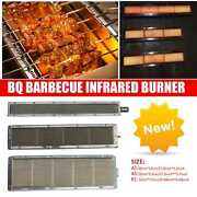 New Bbq Barbecue Infrared Burner Gas Grill Ceramic Steel Smokeless Burner Heater