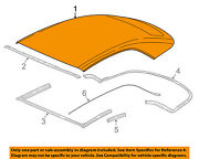 Buick Gm Oem 2018 Cascada Convertible/soft Top-top Cover 13426146