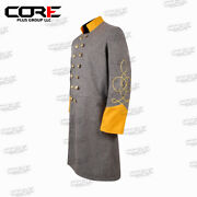 Us Civil War Confederate 1 Row Braid Double Breast Cavalry Frock Coat All Sizes