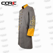 Us Civil War Confederate 2 Row Braid Double Breast Cavalry Frock Coat All Sizes