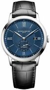 Baume And Mercier Classima Automatic Blue Dial Black Leather Mens Watch Moa10480