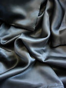 4 Pc 100 Mulberry Silk Charmeuse Sheet Set King Dark Gray By Feeling Pampered