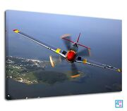 Ww2 American Long Range Fighter Jet P-51 Mustang Canvas Wall Art Picture Print