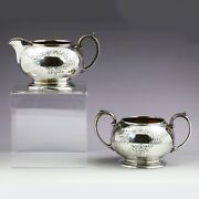 Antique Sterling Silver Creamer And Sugar Sheffield England Cooper Brothers And Son