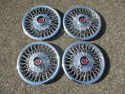 1977 Ford Mustang Ii 13 Inch Wire Spoke Hubcaps Wheel Covers D7fz1130a Mint