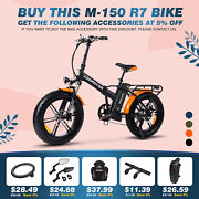750w Foldable Electric Bicycle Addmotor M-150 R7 48v16ah Battery Display Ebike
