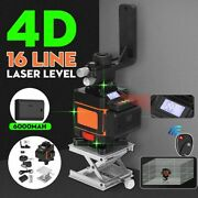 Laser Level 4d 16 Lines Green Light Led Display Auto Self Leveling 360anddeg Rotary