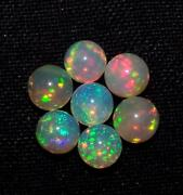 Natural Ethiopian Opal Round Cabochon Loose Gemstone Size 10x10mm Beautiful Fire