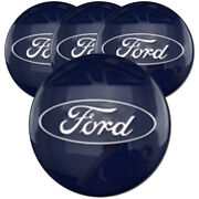 Blue Center Caps With Ford Logo For 2013-2016 Ford Escape 2.13 [set Of 4]