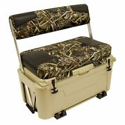 Wise Tan 100 Quart Swingback Ice Cage Cooler Boat Seat With Led