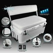 Wise 100 Quart Swingback Ice Cage Cooler Boat Seat With Aluminum Arms With Led