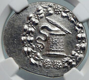 Lydia In Tralles 166bc Vintage Ancient Silver Greek Cistophorus Coin Ngc I89857