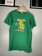 Vintage 1980s Mach Iii Kiss Me Don't Touch My Fly Green Frog Toad Shirt Tee L La