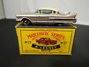 P842-rare Matchbox Lesney No27c Cadillac Sixty Special With And039cand039 Type Box.