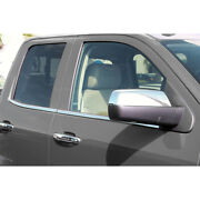 Stainless Window Sill Molding Fits 2014-18 Silverado/sierra 2500/3500 Double Cab