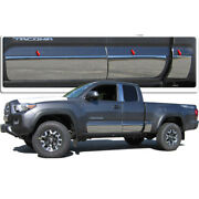 6pc. Luxury Fx Stainless Full Rocker Trim For 16-20 Toyota Tacoma Access 6and039 Bed