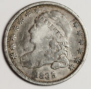 1835 Bust Dime. Full Liberty. Natural Uncleaned. Full Rims. 158879
