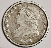 1835 Bust Dime. Natural Uncleaned. Full Rims. Full Liberty. 158868