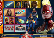 Hot Toys Captain Marvel Deluxe Mms522 Movie Masterpiece Factor Seal Double Boxed