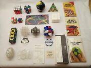 Vintage Mixed Lot Of 14 Puzzles Rubiks Cube And Others