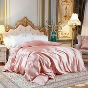 1 Pc Duvet Cover High-end Silk Satin Single Double Queen King Sizes Quilt Covers