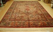 Antique Early Karastan Kirman Multi_color Panel Pattern 717 Rug Carpet 8and0398x12and039