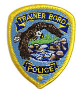 Vintage Patch Trainer Boro Police Eagle Over River Marcus Hook Pa