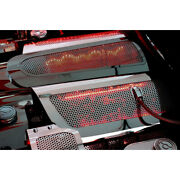 Perforated Stainless Replacement Fuel Rail Covers W/red Led For 2008-13 Corvette