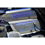 Perforated Replacement Fuel Rail Covers W/blue Led For 2006-12 Corvette Z06 Ls7