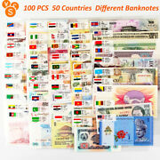 100 Pcs 50 Countries World Banknotes Collection Currency Unc Set Paper Money